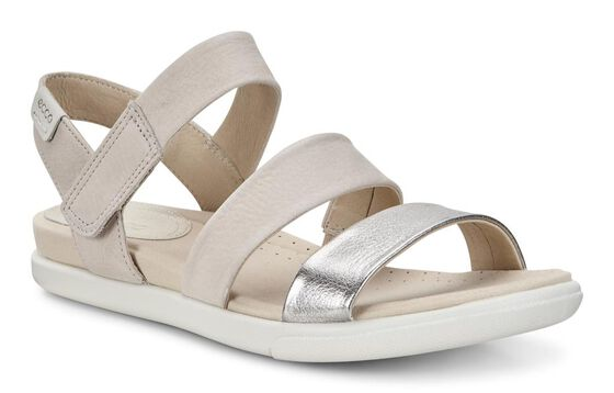 ECCO Damara Modern Sandal (ALUSILVER/GRAVEL)