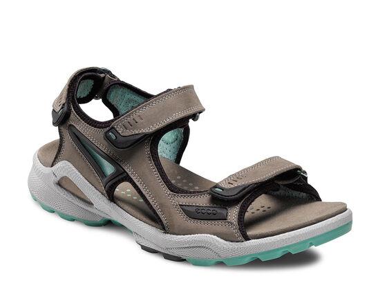 ECCO Womens Chiappo Sandal (WARM GREY/EMERALD)