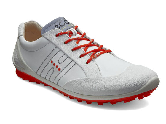 ECCO Mens BIOM Zero Golf Lace (WHITE/FIRE)