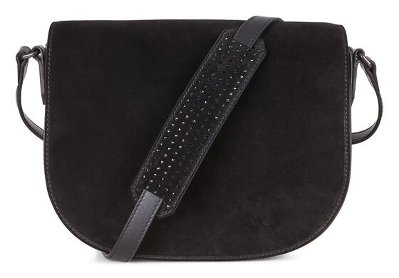 ECCO Joliet Medium Saddle Bag (BLACK)