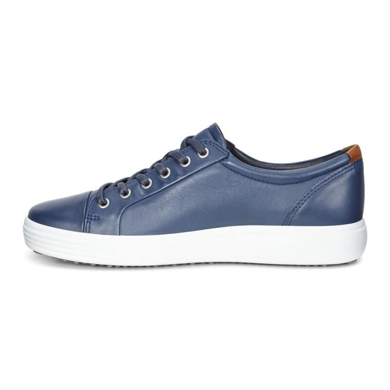 Men Leather Ecco Blue Sneakers