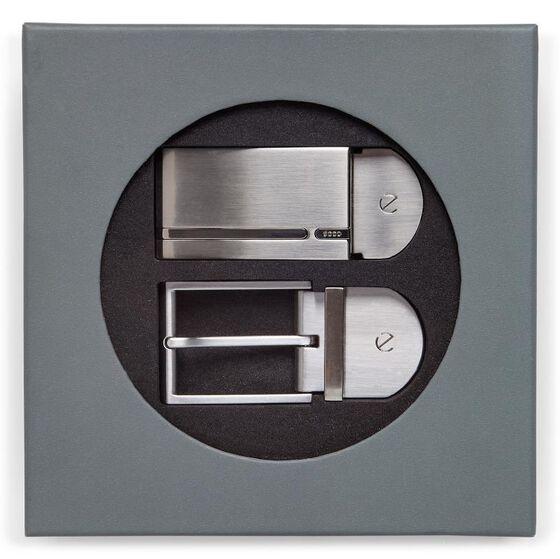 ECCO Nicolai Belt Gift Box (BLACK/COCOA BROWN)