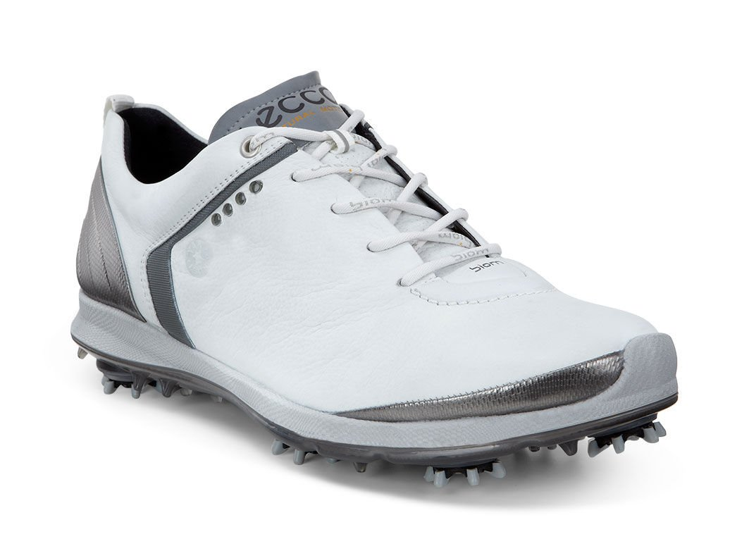 ECCO Golf - BIOM G 2 GTX (White/Dark Shadow) Men's Golf Shoes