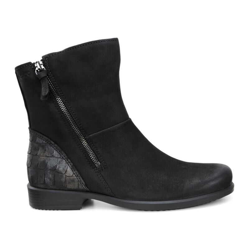 Womens Boots ECCO Touch 25 Scale Boot Black/Black