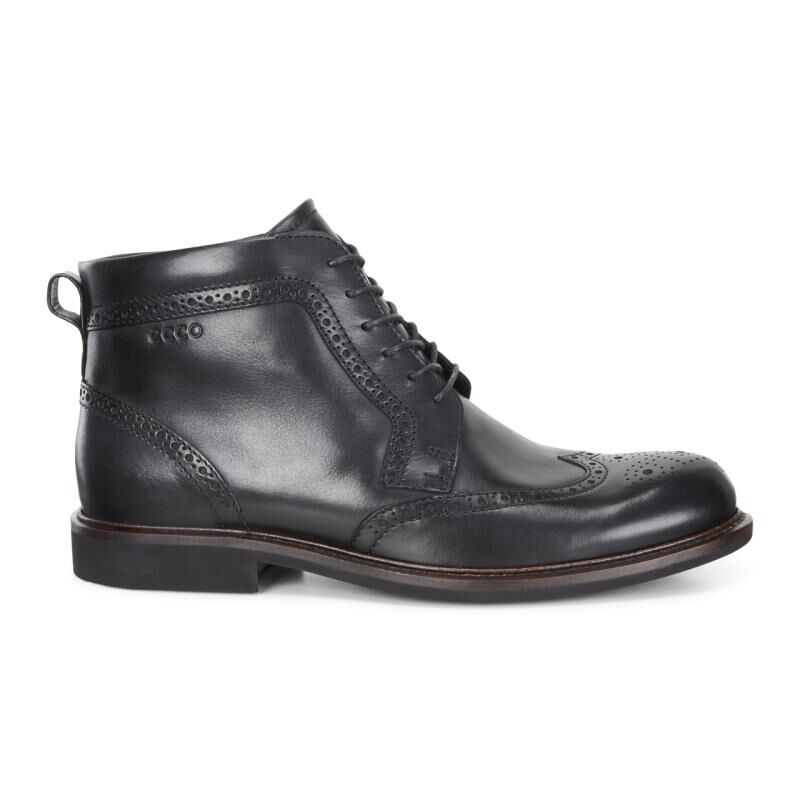 ... ECCO Findlay Wing Tip BootECCO Findlay Wing Tip Boot BLACK (01001) ...