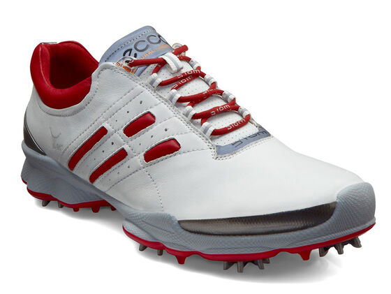 ECCO Mens BIOM Golf Lace (WHITE/BRICK)