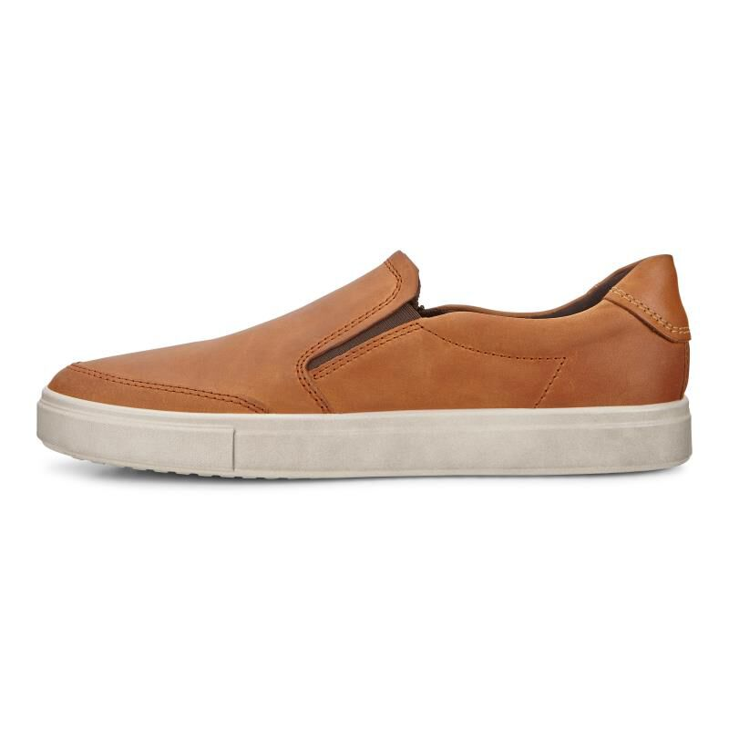 Tan leather 'Kyle' slip-on shoes discount outlet CsmBuGQL