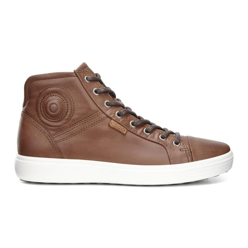 ... ECCO Mens Soft 7 High TopECCO Mens Soft 7 High Top MAHOGANY (02195) ...