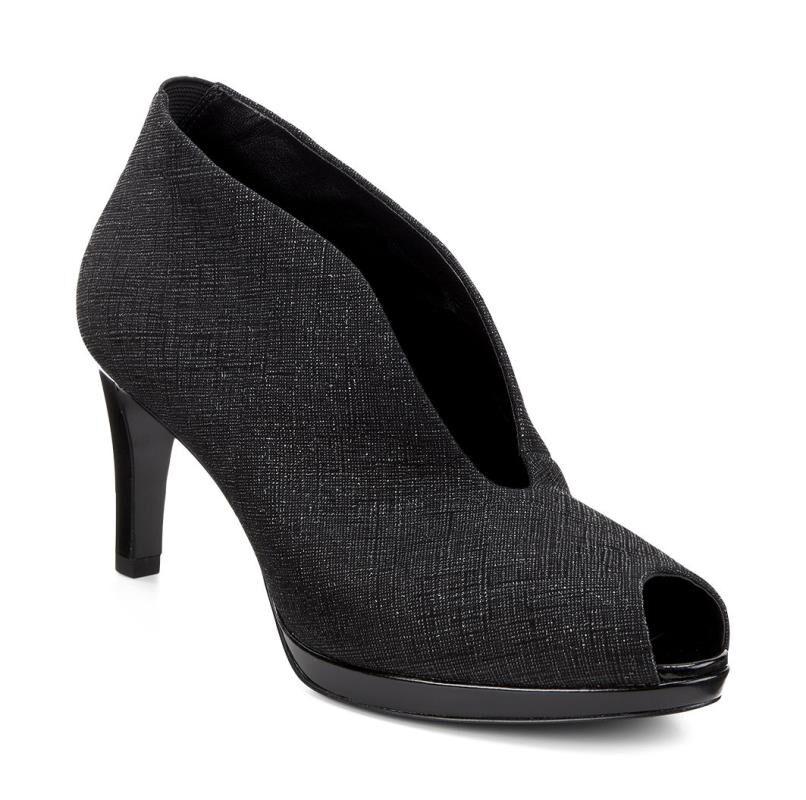 Womens Shoes ECCO Baltimore Peep Toe Black/Black