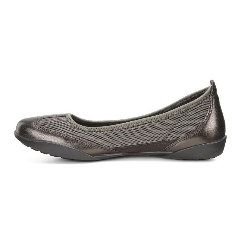 ... ECCO Bluma Summer BallerinaECCO Bluma Summer Ballerina LICORICE METALLIC /TARMAC (59962) ...