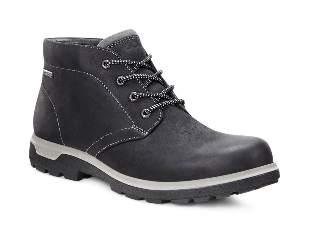 Ecco Mens Black Mid Boots Whistler Gtx