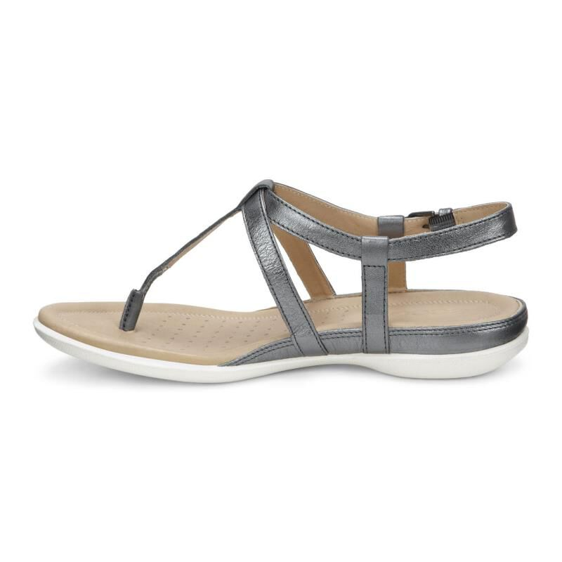 Ecco Online Ecco Brown Leather Buckle Strap Slingback Comfort T Strap Sandals Shoes 37 6 6 5