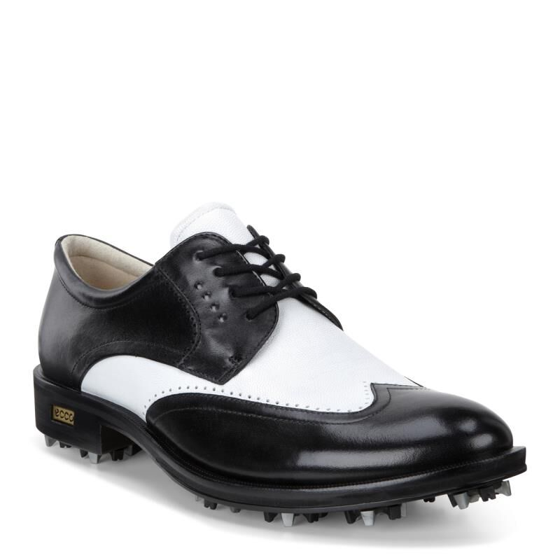 Ecco Golf New World Class Mens Black Oxfords Shoes