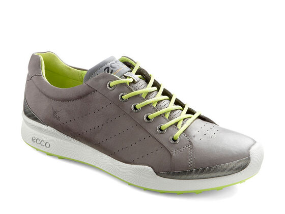 ECCO Mens BIOM Golf Hybrid (WARM GREY/LIME PUNCH)