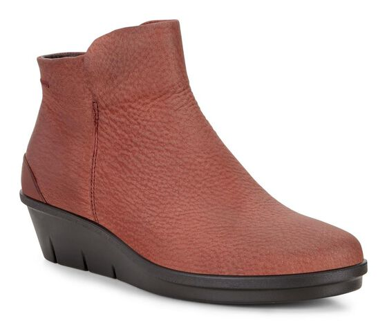 ECCO Skyler Wedge Bootie (BRANDY)