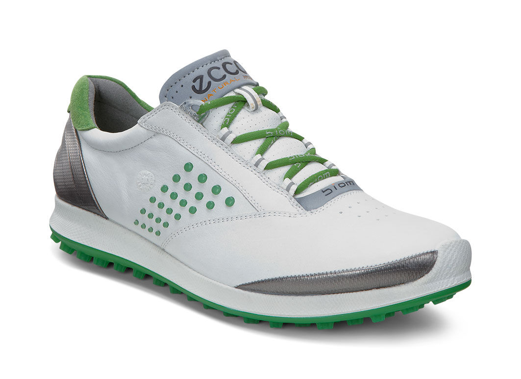 Low Price Womens Golf Shoes - Ecco Biom Hybrid 2 White/Meadow