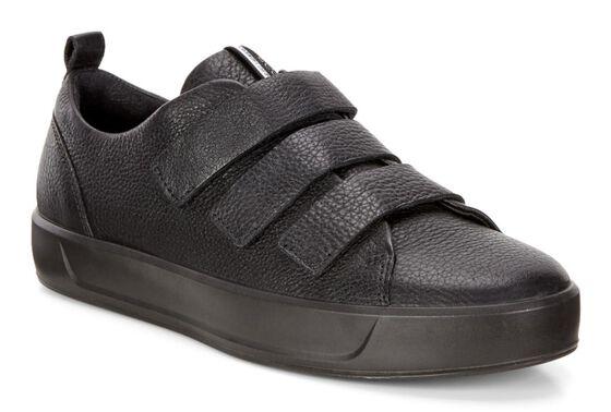 ECCO Wmns Soft 8 Strap Sneaker (BLACK/BLACK)