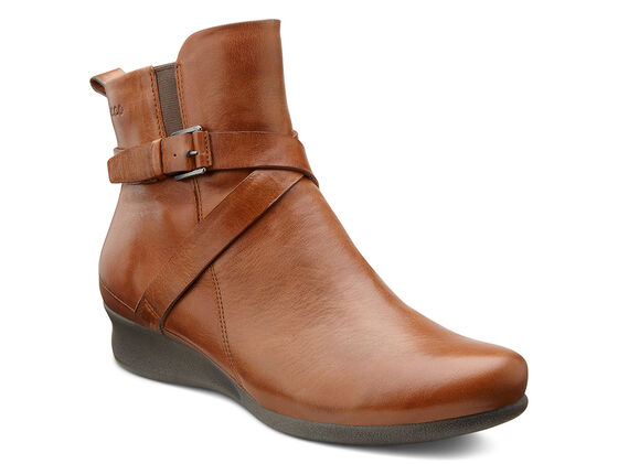 ECCO Abelone Cross Buckle BootECCO Abelone Cross Buckle Boot MAHOGANY (01195)