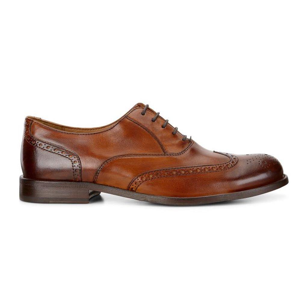 Ecco London Brogue Tieecco Tie Amber 01112