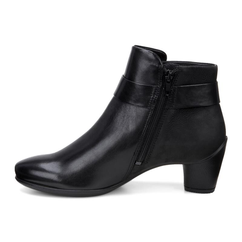 Ecco Womens Black Black Boot Boots Sculptured 45 Ankle