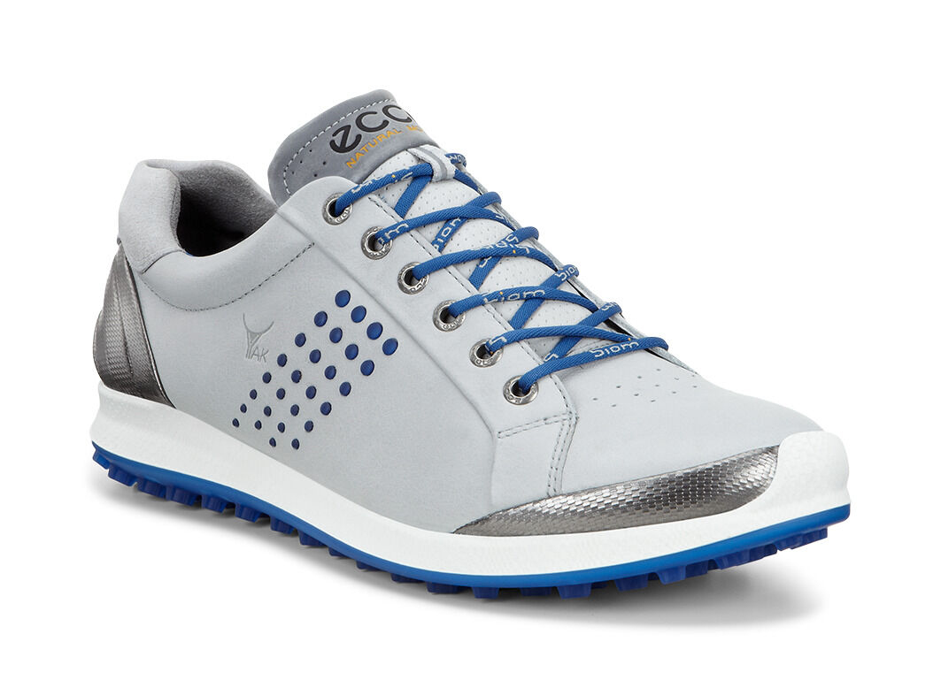 ECCO Golf BIOM Hybrid 2 (Concrete/Royal) Men's Golf Shoes