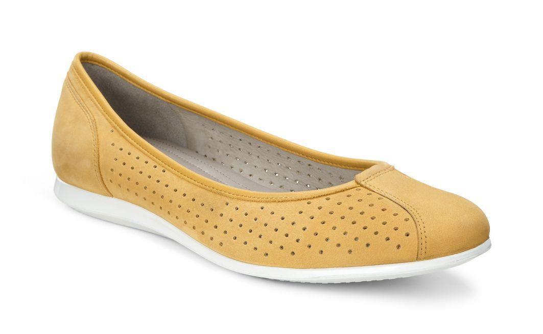 Discount Shop Womens Dress Shoes ECCO Touch Ballerina 2 0 Saffronsaffron Online Shop