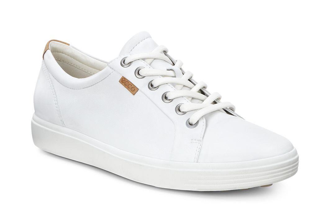 ECCO Women's Soft 7 Leather Cap Toe Sneakers