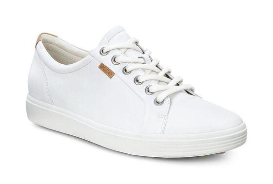 ECCO Womens Soft 7 Sneaker (WHITE)