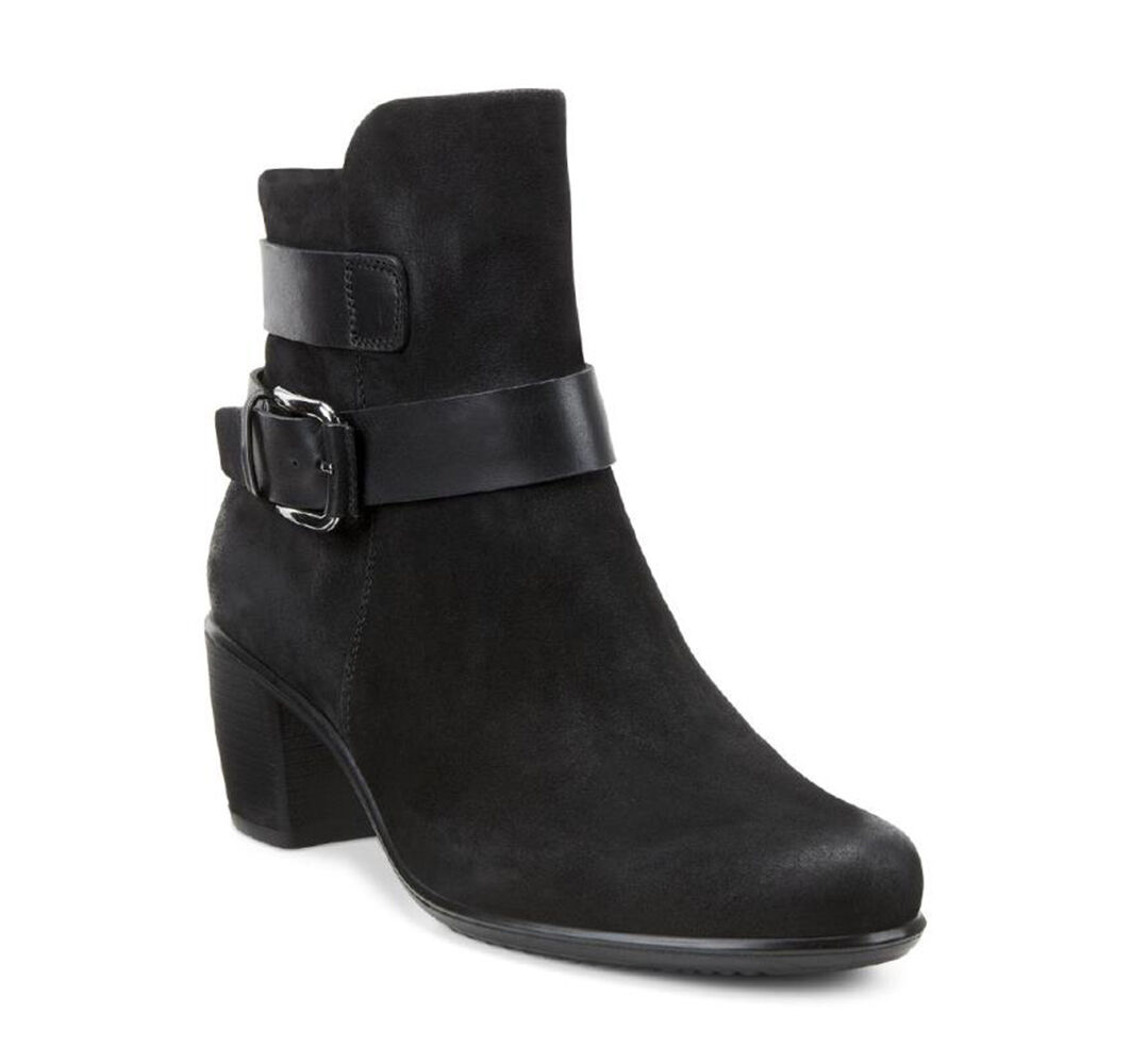 Womens Boots ECCO Touch 55 Mid Cut Bootie Black/Black