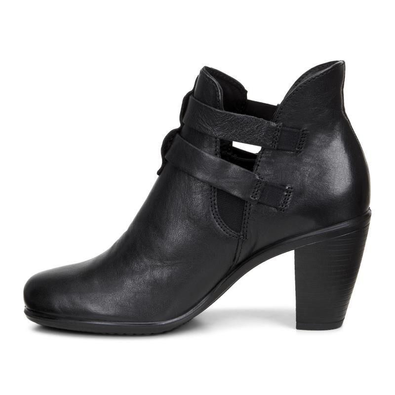 Womens Boots ECCO Touch 75 Double Buckle Black