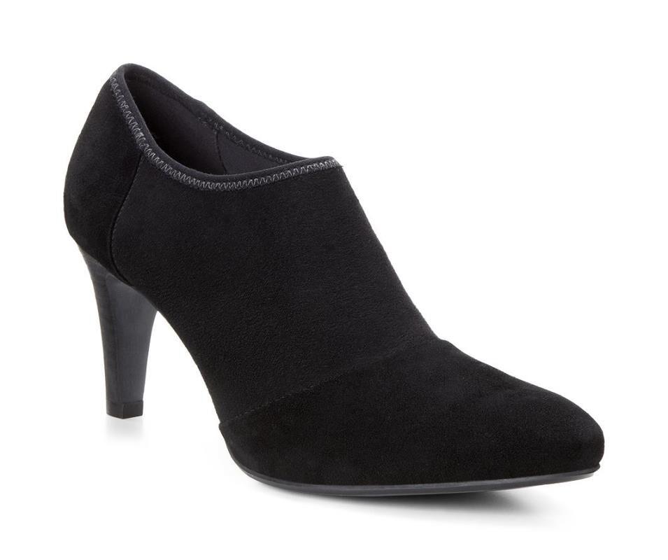 Fashion Style Womens Casual Shoes - Ecco Alicante Shootie Black/Black
