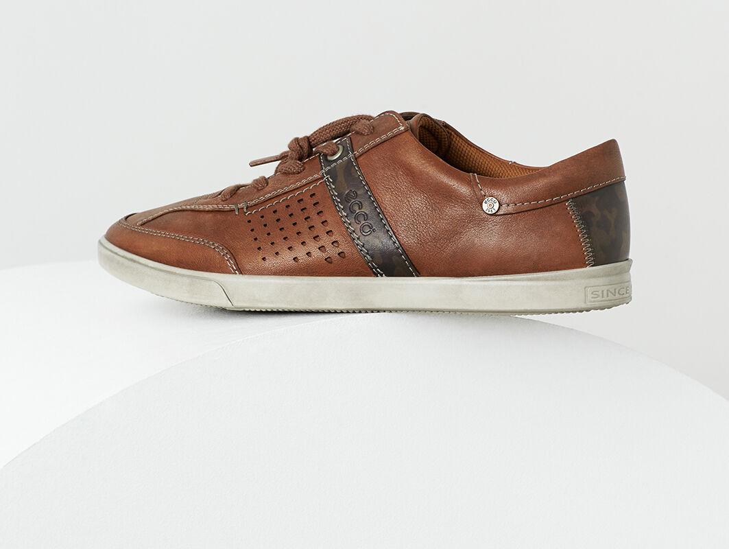Mens Shoes ECCO Collin Retro Tie Cognac/Rust