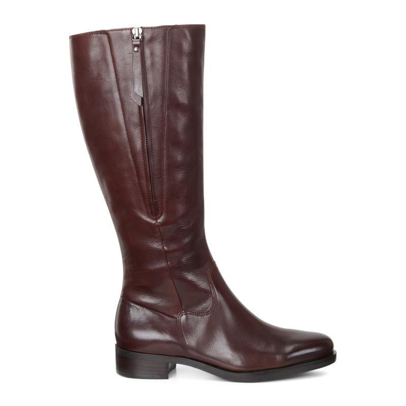 Womens Boots ECCO Adel Tall Zip Boot Mink