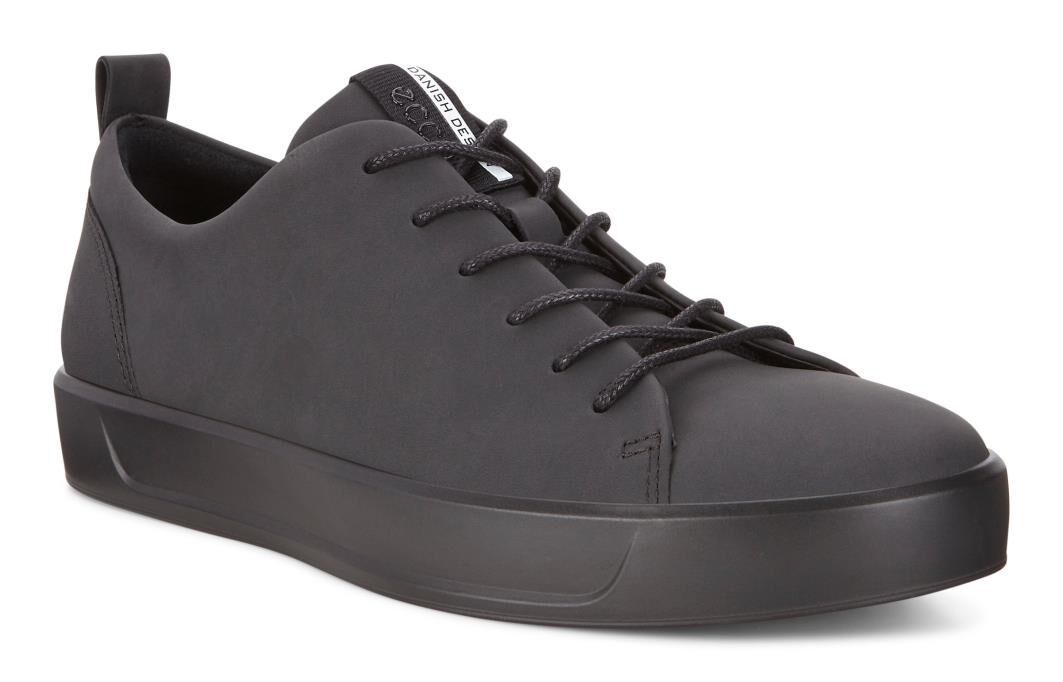 Carries New Mens Casual Shoes - Ecco Soft VII Black/Black
