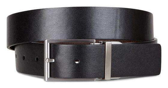 ECCO Michael Formal Belt (BLACK/COCOA BROWN)