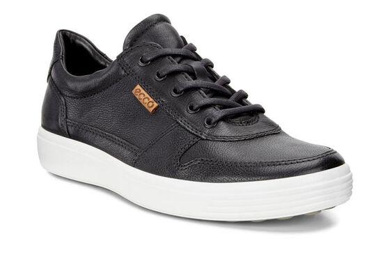 ECCO Mens Soft 7 Retro Sneaker (BLACK/LION)