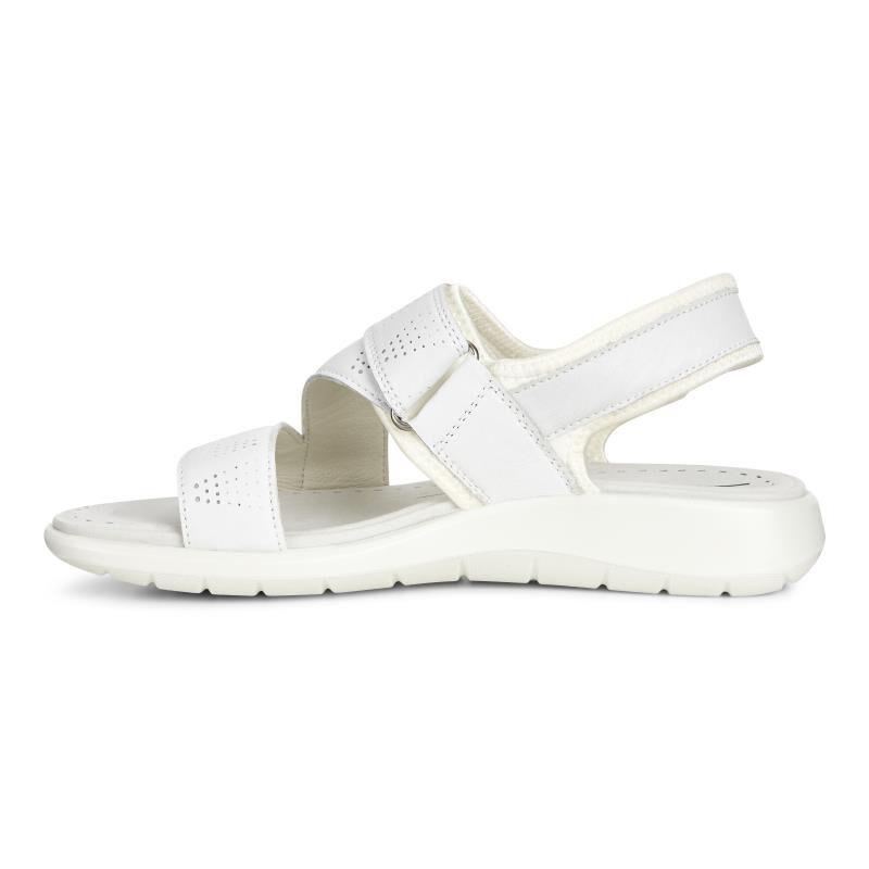 ... ECCO Soft 5 Cross Strap SandalECCO Soft 5 Cross Strap Sandal WHITE/WHITE  (50874 ...