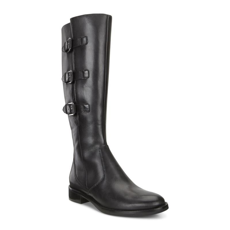 Black Ecco Womens Boots Dress Hobart Happy