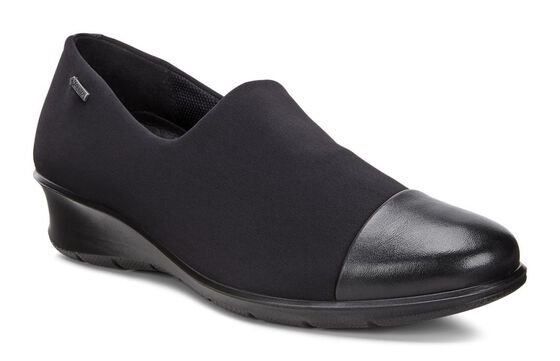 ECCO Felicia GTX Slip On (BLACK/BLACK)