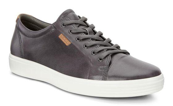ECCO Mens Soft 7 Sneaker (MAGNET)