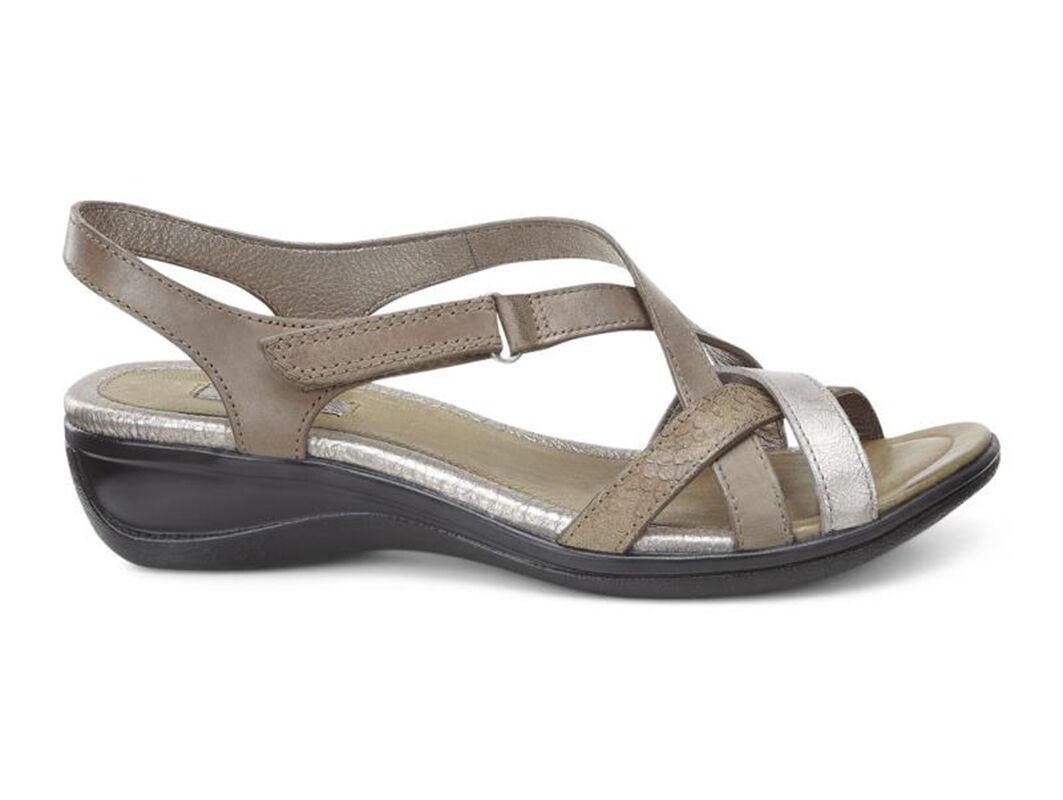 Womens Sandals ECCO Sensata Cross Strap Sandal Navajo Brown/Moon Rock/Navajo Brown