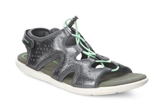 ECCO Bluma Toggle Sandal (DARK SHADOW METALLIC)