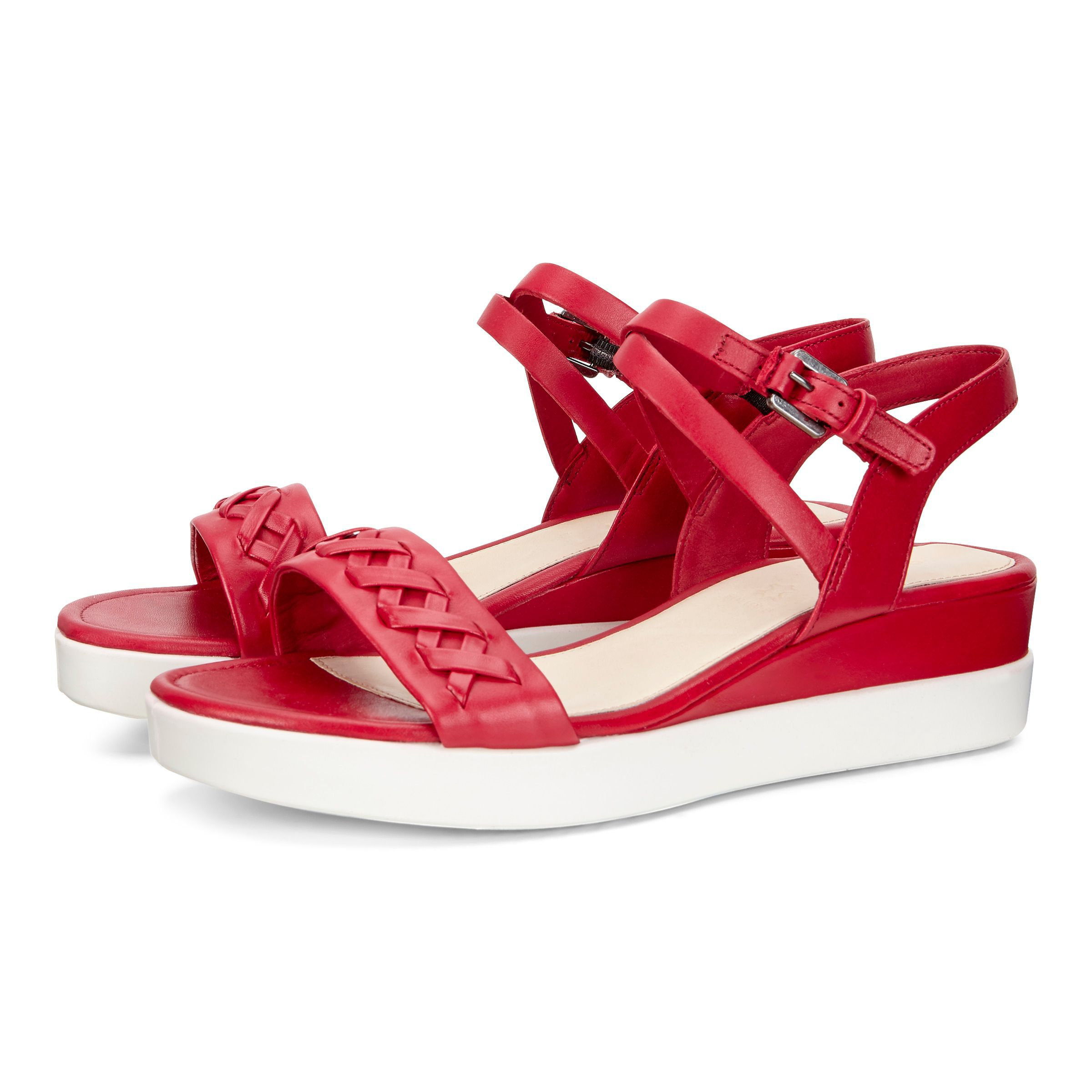 ... ECCO Touch Braided PlateauECCO Touch Braided Plateau CHILI RED (01466)