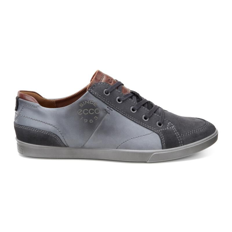 Mens Collin Sneaker, Grey Ecco