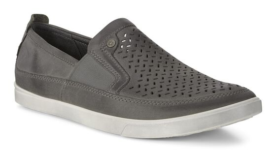 ECCO Collin Perf Slip on (TITANIUM)