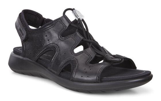 ECCO Soft 5 Toggle Sandal (BLACK)