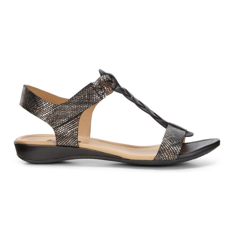 ECCO Bouillon Knot Metallic Sandals