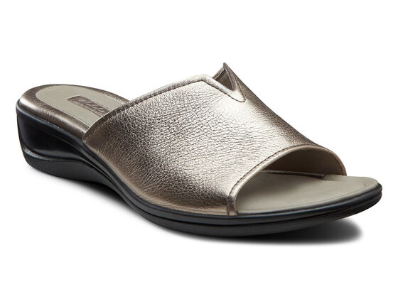 ECCO Sensata Dress Slide (WARM GREY METALLIC)
