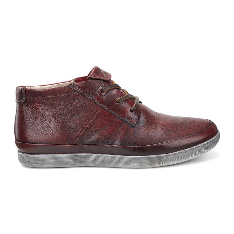 Ecco Womens Red Boots Damara Bootie Chili