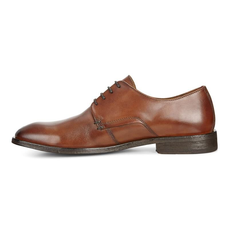 ... ECCO Leeds Plain Toe TieECCO Leeds Plain Toe Tie in AMBER (01112) ...